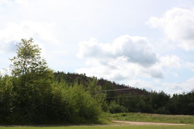 iron mining tailings mound, northern Minnesota