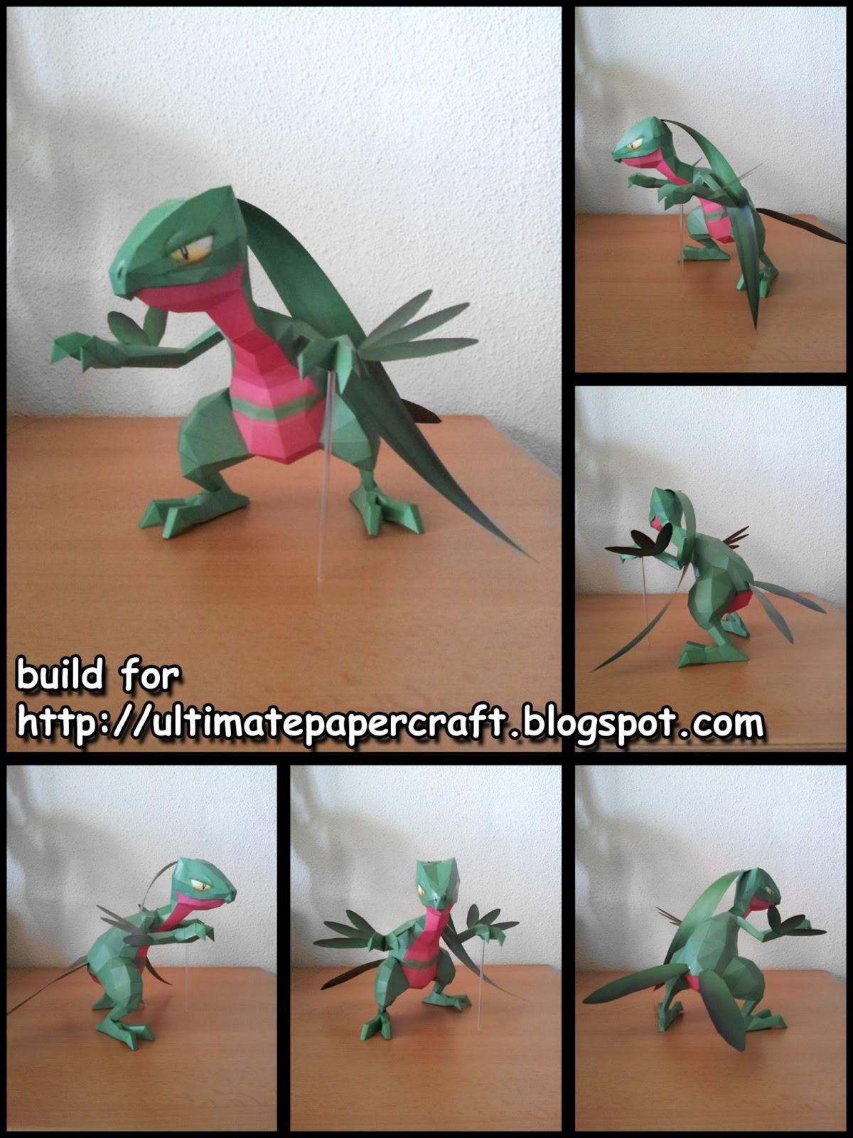 Pokemon Grovyle Papercraft