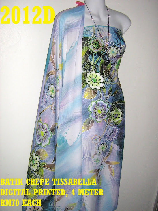 CTD 2012D: BATIK CREPE TISSABELLA DIGITAL PRINTED, EXCLUSIVE DESIGN, 4 METER