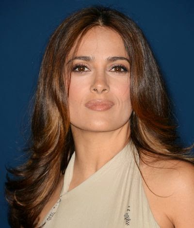 brunettes Salma Hayek magahony Brown