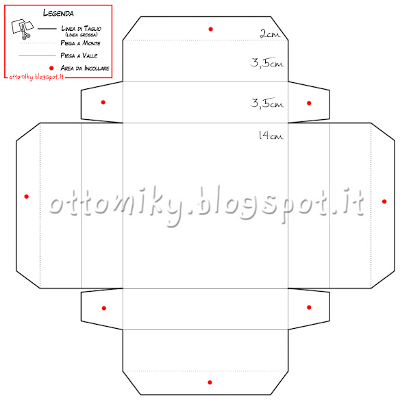 Otto miky tutorial display box scatola con coperchio for Come costruire i passaggi della scatola