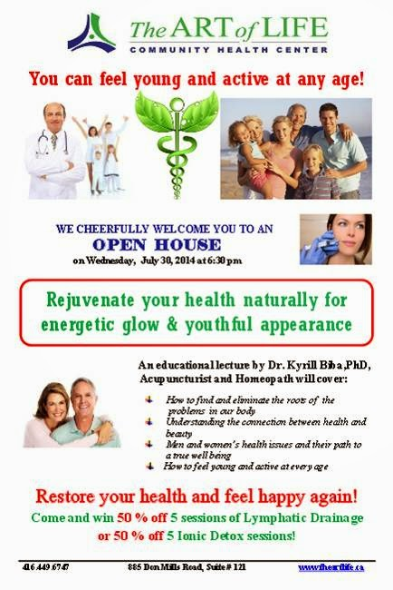 The Art of Life Open House: Rejuvenate your health naturally