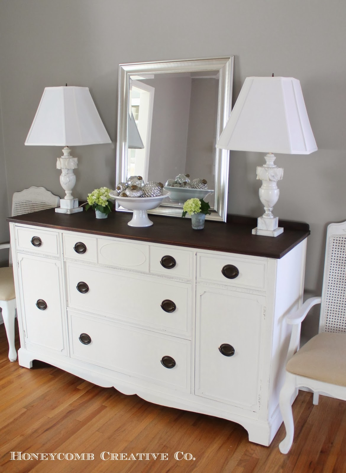 White buffet table furniture - A New Milk Paint Buffet