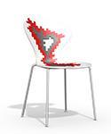 silla cocina diseño ROJO biba apilable