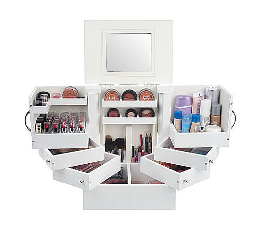 ... makeup organiser love luxury deluxe wood cosmetic box with mirror by