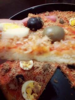 Recette du pizza au semoule et non pas à la farine