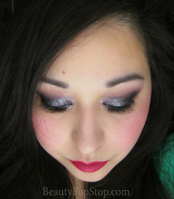new year's eve makeup tutorial using lit cosmetics glitter