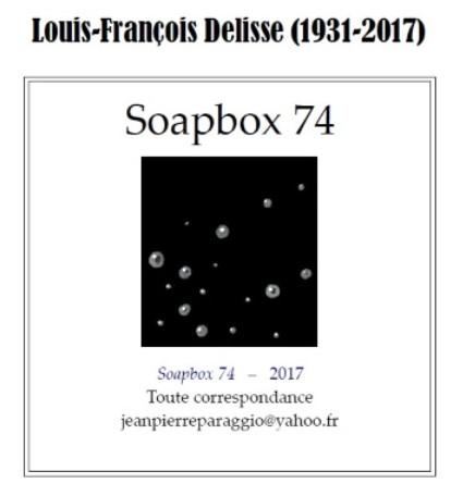 SOAPBOX 74, FEUILLET DE L'UMBO 2017
