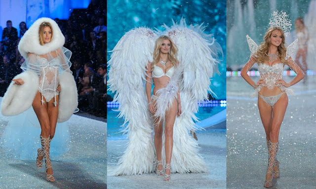 Doutzen Kroes, Lily Donaldson, Lindsay Ellingson, snow angels, victoria's secret