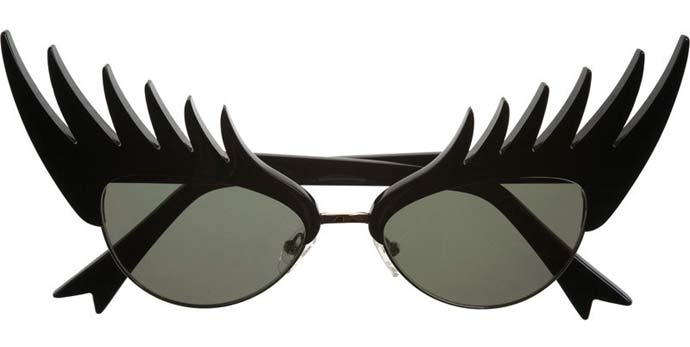 Long luscious sunglashes from Tatty Devine: eyelash sunglasses