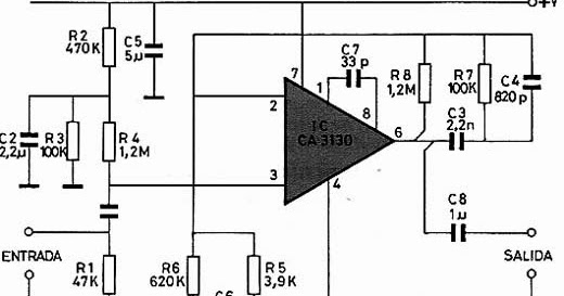 electronica retro  circuito preamplificador de tocadiscos