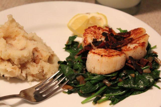 dishmaps seared scallops with bacon recipes dishmaps seared scallops ...