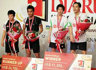 Inilah Daftar Juara Turnamen Djarum Indonesia Open Super Series 2012