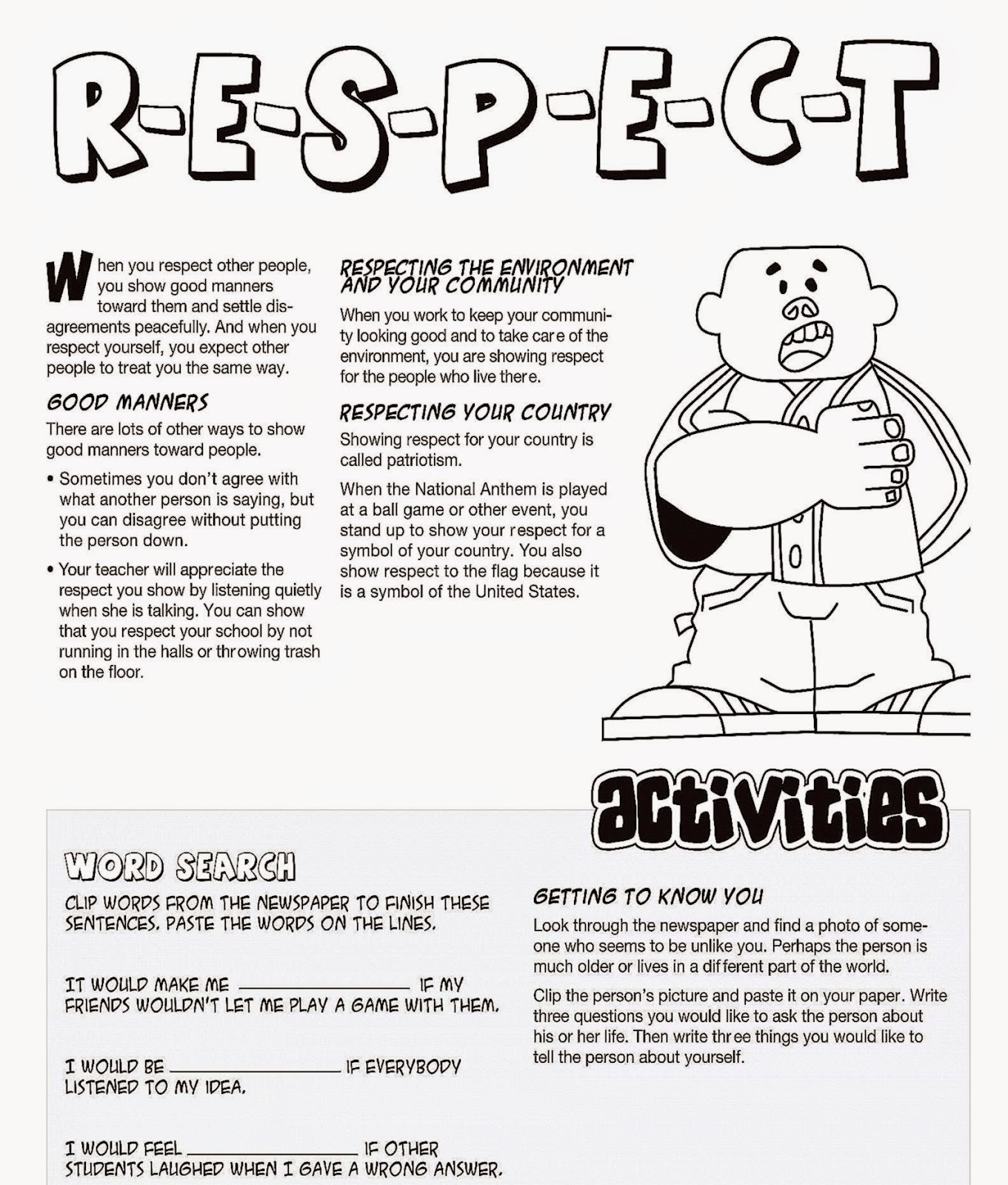 Worksheets Worksheets On Respect respect coloring sheets free sheet 02 bible jesus moneychangers pages book for kids boys