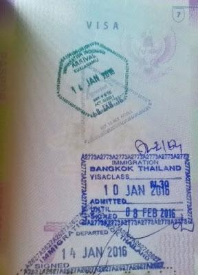Visa Bangkok 30hari