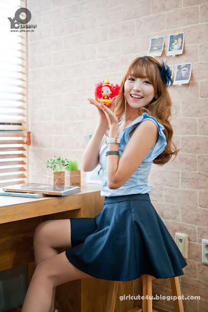 5 Lee Eun Hye in Blue-very cute asian girl-girlcute4u.blogspot.com