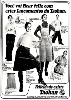 lojas Yaohan, 1976. moda anos 70; propaganda anos 70; história da década de 70; reclames anos 70; brazil in the 70s; Oswaldo Hernandez