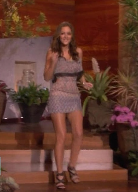 red carpet dresses leighton meester the ellen degeneres