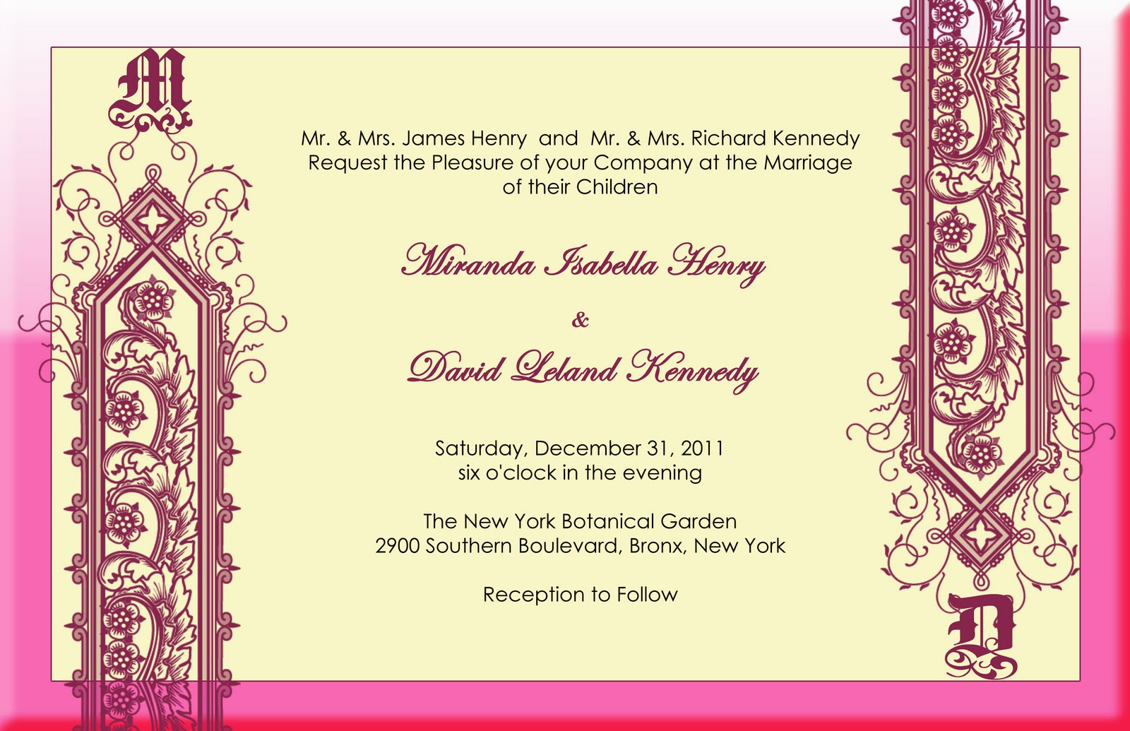Elegant and beautiful wedding invitations for free monogram wedding monogram wedding design stopboris Image collections