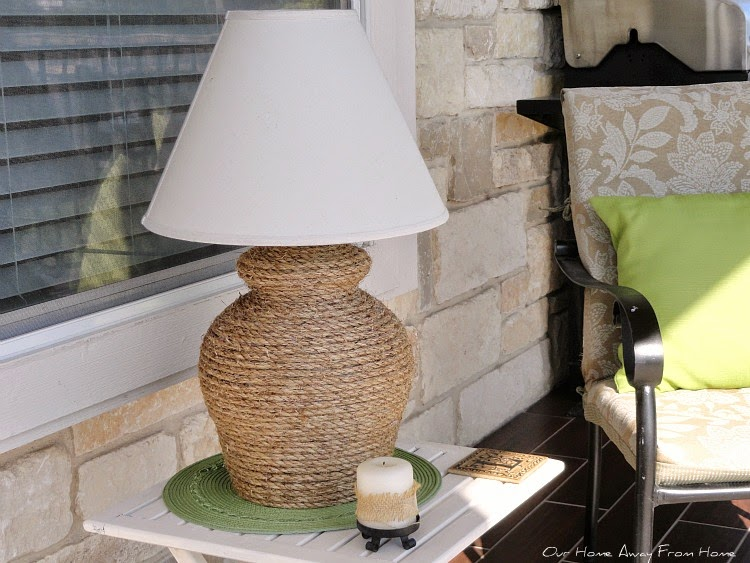 Our home away from home diy rope lamp i am always looking for ways to repurpose things that i already have at home and that was the case with this lamp didnt cost me a dime aloadofball Choice Image
