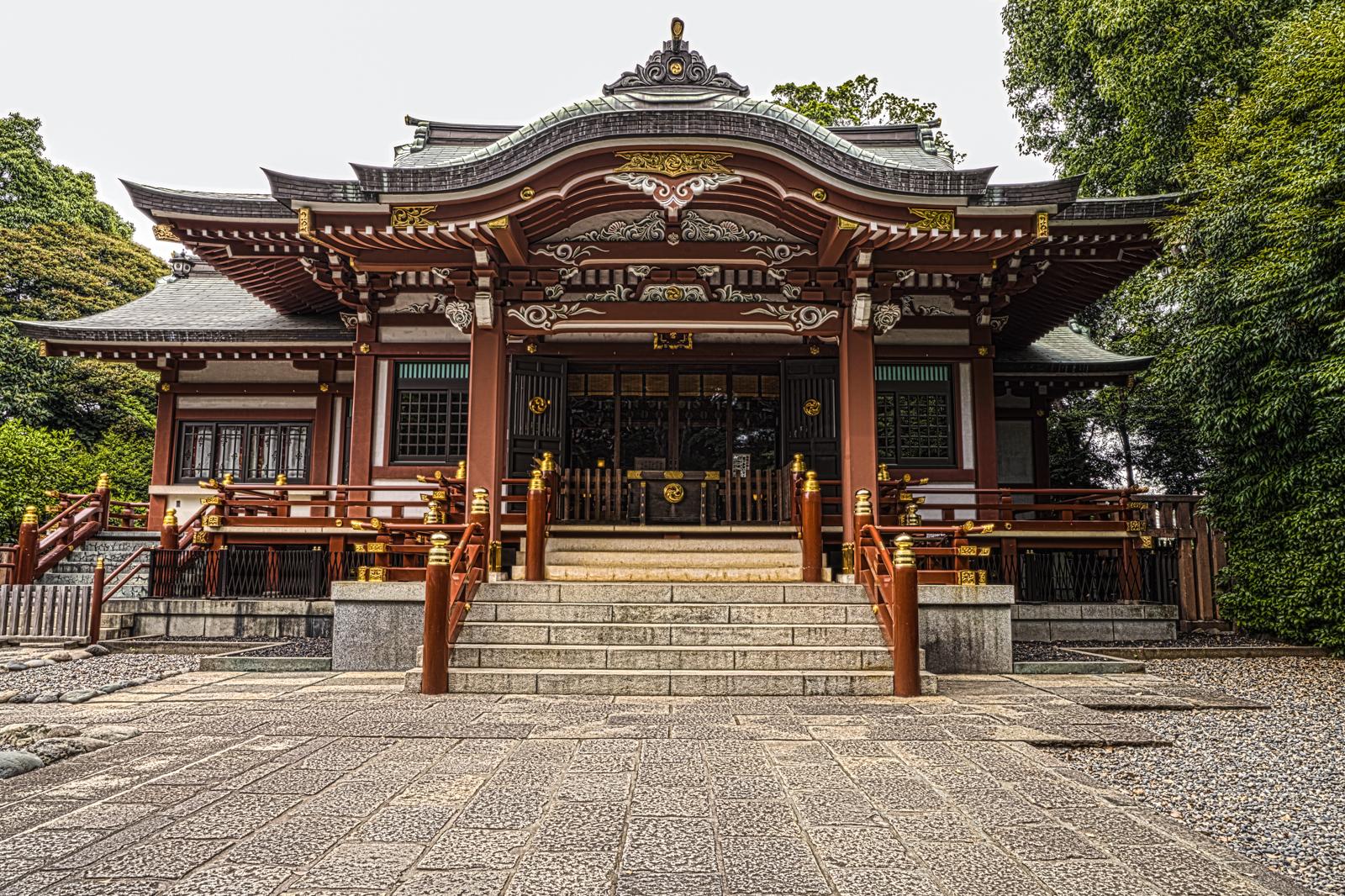 東京都武蔵野市吉祥寺、武蔵野八幡宮のHDR写真