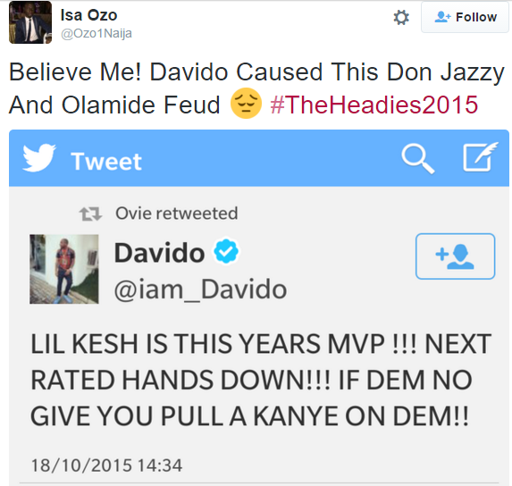 Davido Caused This Don Jazzy and Olamide Feud (Photo), Davido, Lil Kesh, Olamide,