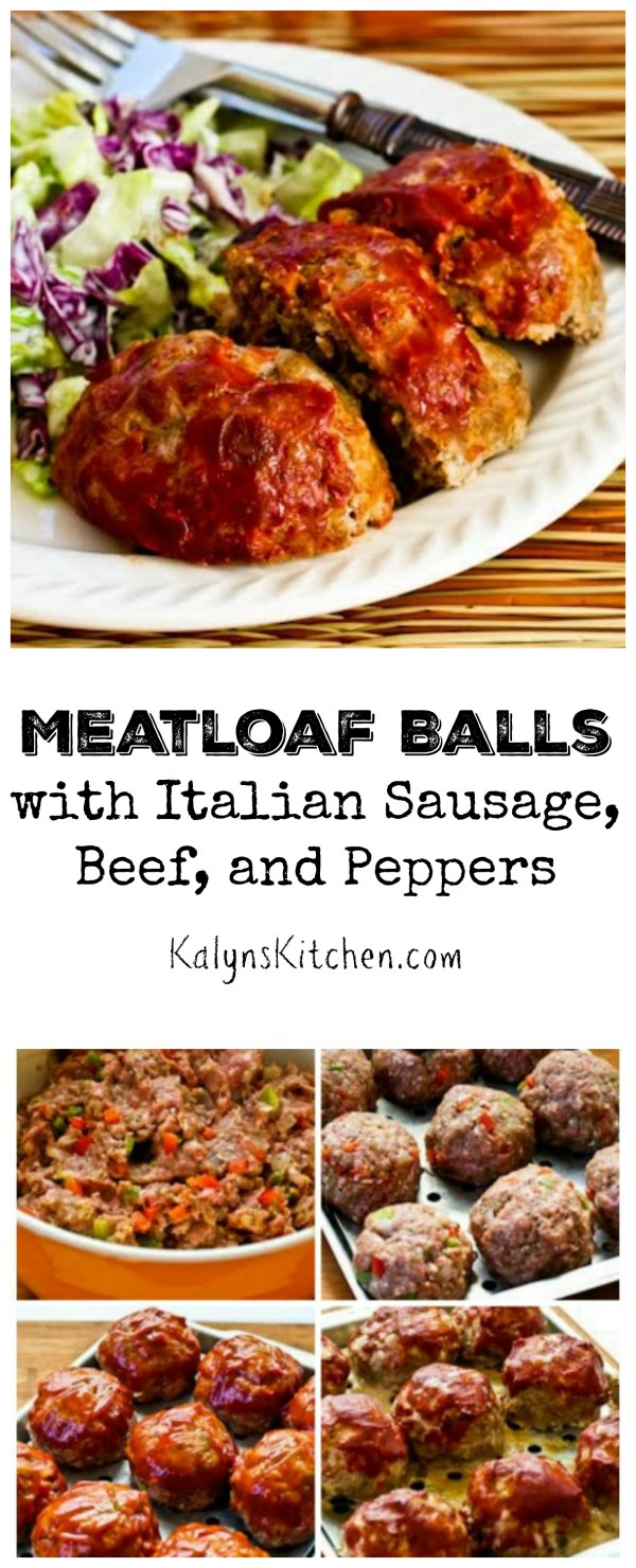 Individual-Serving Meatloaf Balls with Italian Sausage, Ground Beef ...