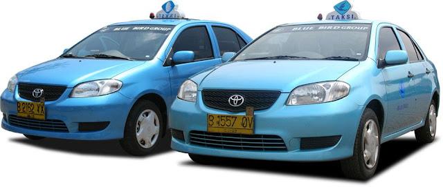 armada mobil taksi blue bird