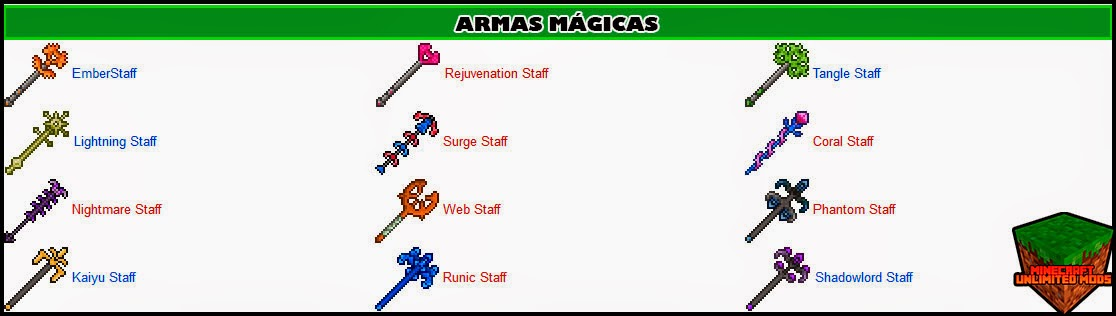 Eternal Isles Mod armas mágicas