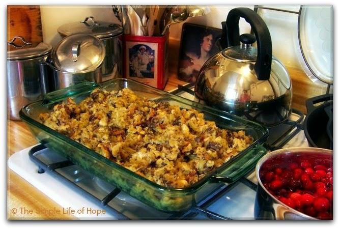 http://pleasantsimplicityathome.blogspot.com/2011/11/sausagecracker-stuffing.html