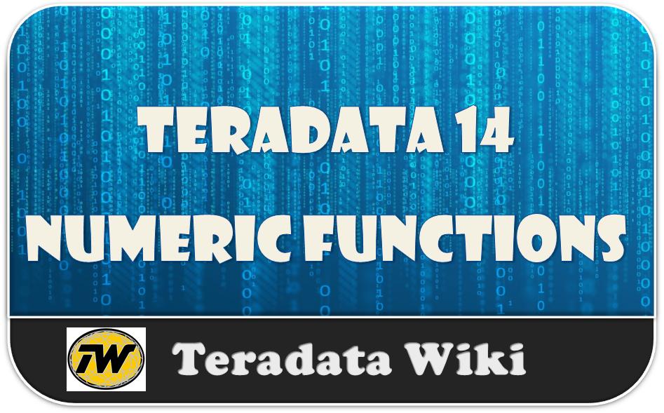 Teradata Numeric Functions