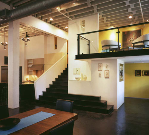 To Apartmet With Modern Interiors And Contemporary Loft Design