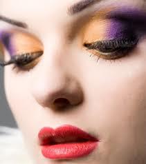 Maquiagem 3D laranja