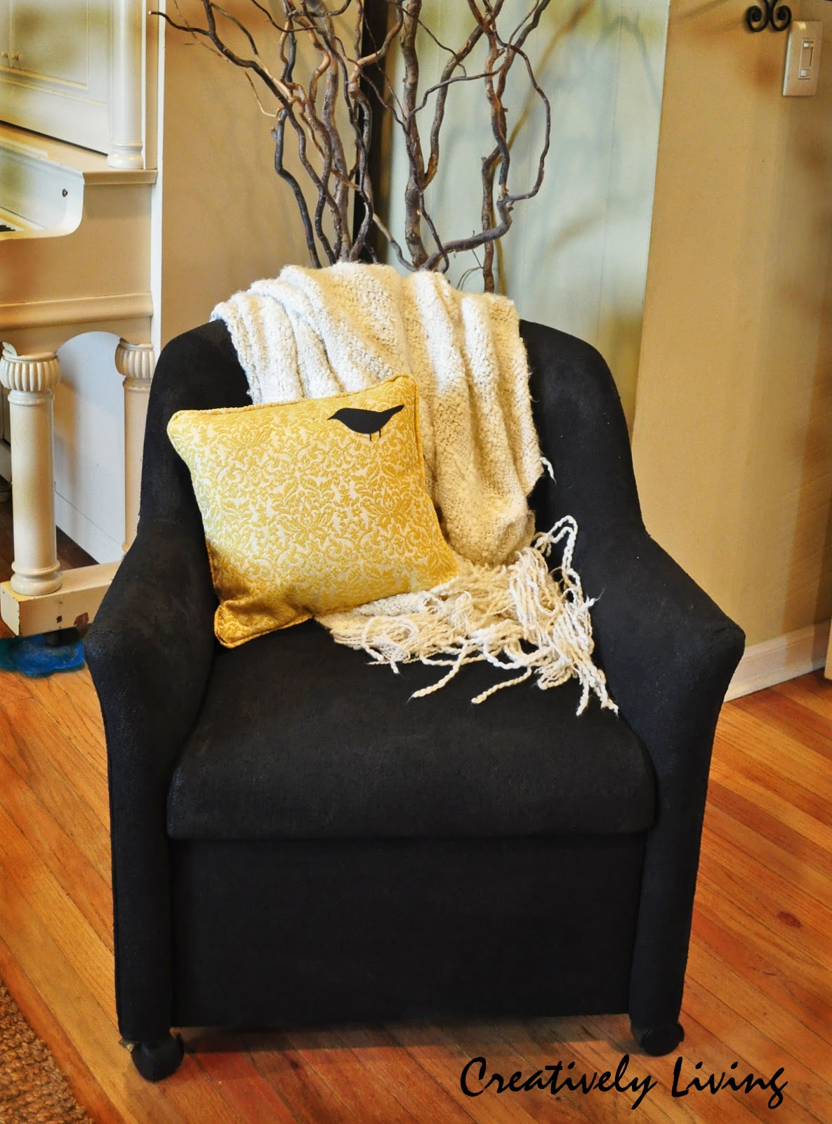 The Low Down On Painting Upholstered Chairs Creatively Living Blog
