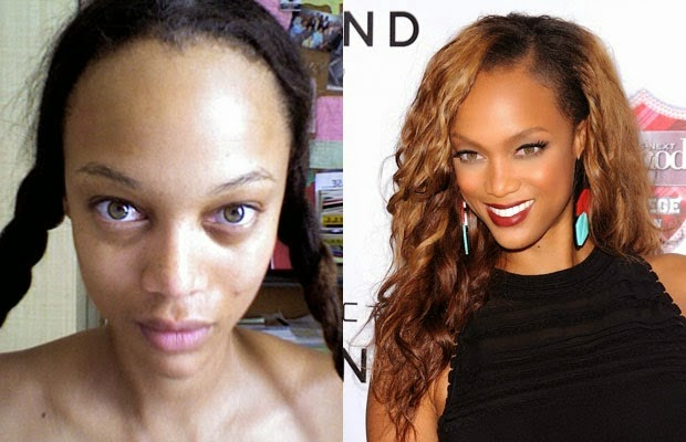 tyra banks - تايرا بانكس - shocking celebrities without makeup photoshop