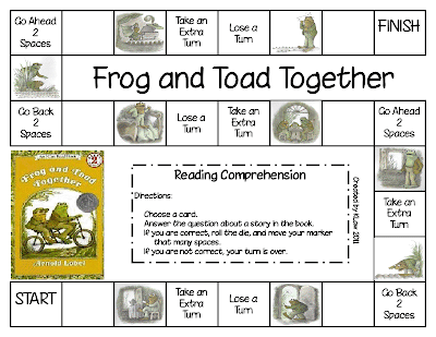 First Grade a la Carte: It's Frog and Toad Week