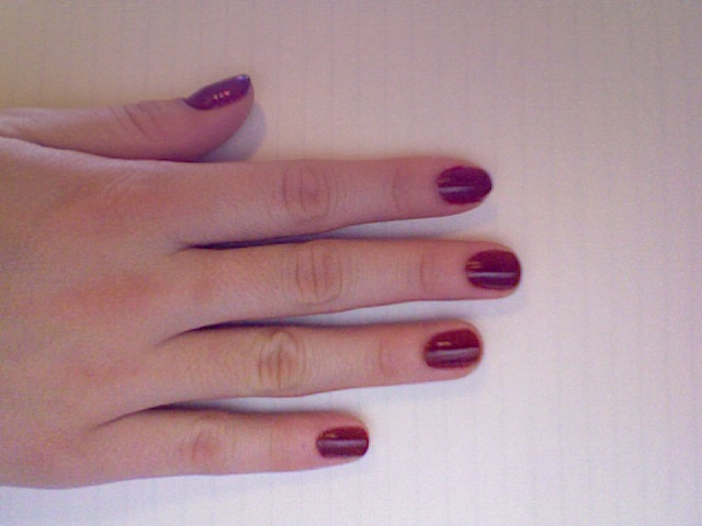 Polished: Estee Lauder Pure Color Nail Lacquer in Enchanted Garnet ...