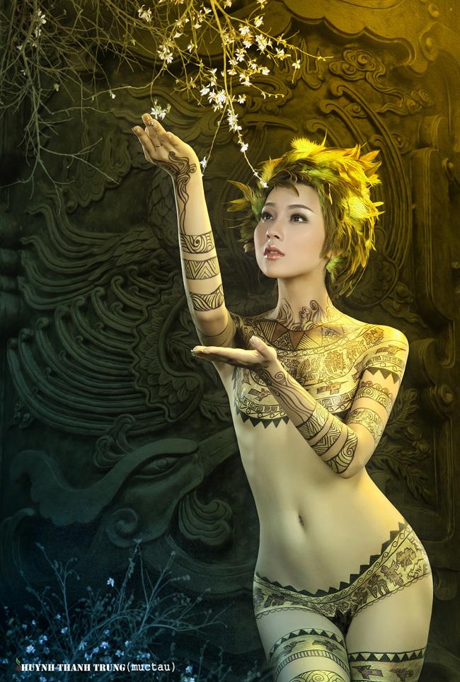 Ảnh gái đẹp sexy với body painting Phần 2 10
