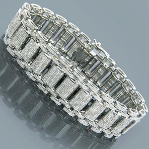 Bracelet Zipper Galleries Diamond For Men Kay Jewelry Mens Bracelets Elegant