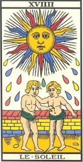Arcano 19: O Sol, carta do tarô, tarot, baralho de marselha