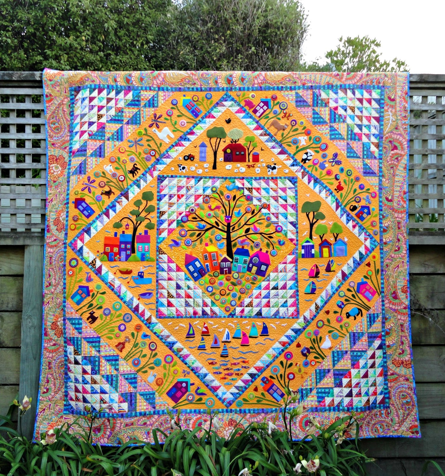 Wendy's quilts and more: Review of my 2015 quilting achievements : wool quilt review - Adamdwight.com