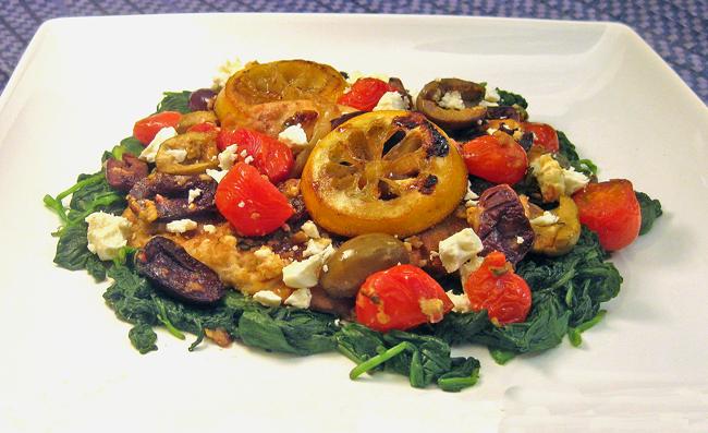 ... 241: Greek Chicken, Made with Feta, Olives, Oregano, & Roasted Lemons