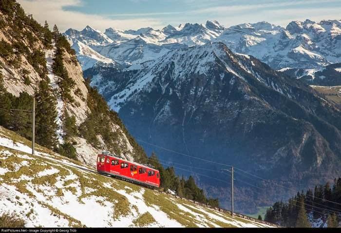MT. Pilatusbahn cogwheel railway