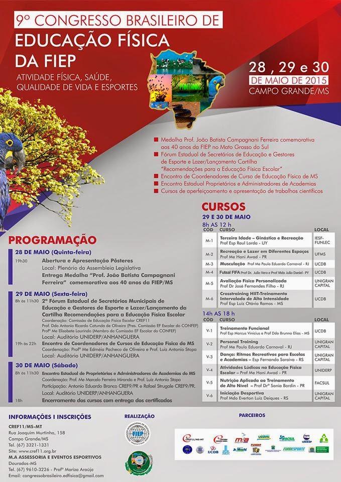 9ª CONGRESSO BRASILEIRO DE ED. FÍSICA DA FIEP