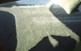 Detalle manta peluda