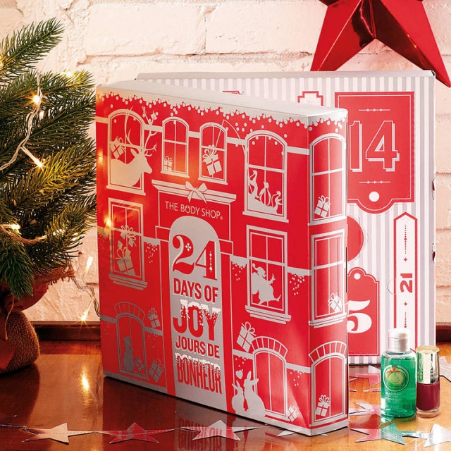 The Body Shop beauty advent calendar 2014 24 days of joy