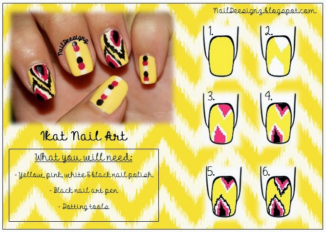 http://naildeesignz.blogspot.co.uk/2013/08/summer-ikat-nail-art.html