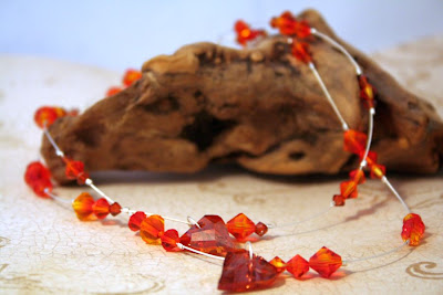 'Fire': Swarovski crystals, sterling silver :: All Pretty Things