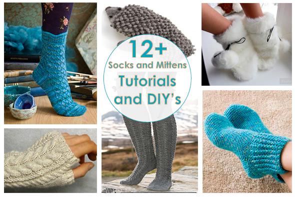 Рукодельный обзор, New Tutorials and DIY's to Try, handmade, своими руками, мастер классы, crochet,  вязание, носки, варежки, socks, mittens