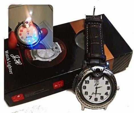Jam Tangan Korek Api + Lampu